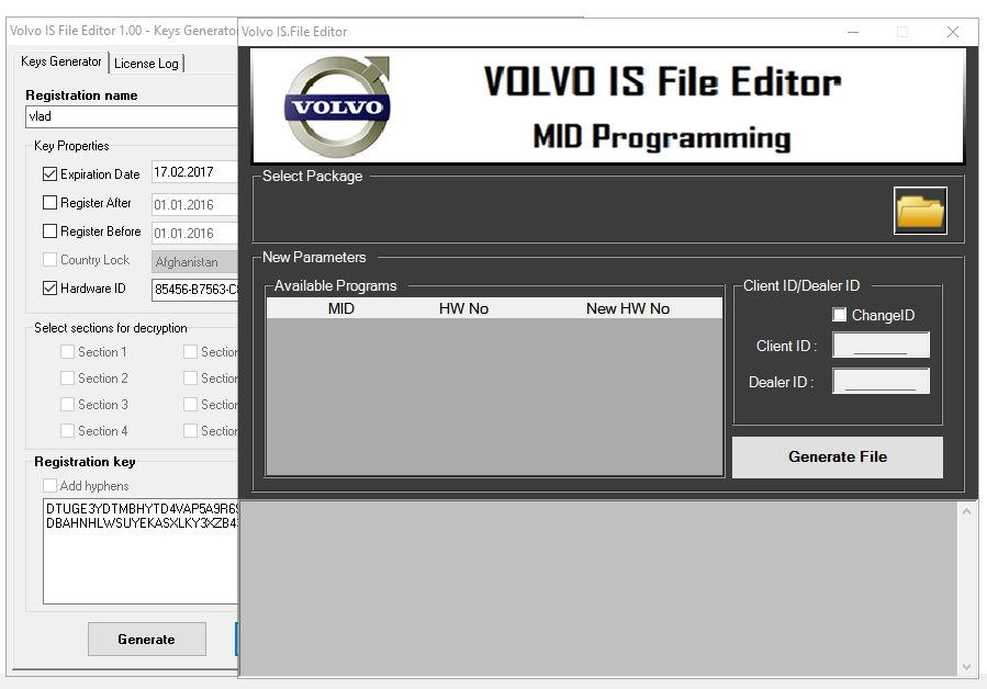 Volvo IS File Editor 1.00 With Keygen