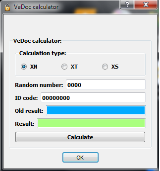 DAS FDOK - VeDoc Calculator
