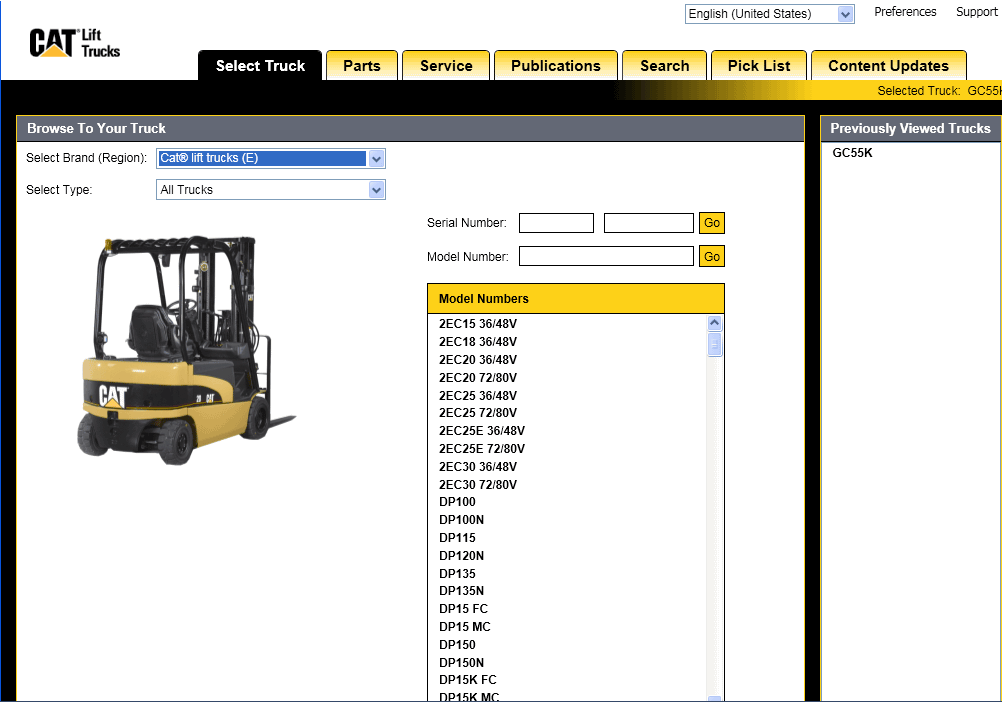 Caterpillar Lift Trucks MCFS [05.2018]