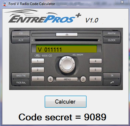 Ford V Radio Code Calculator