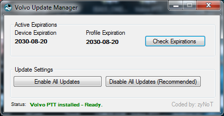 Volvo Update Manager