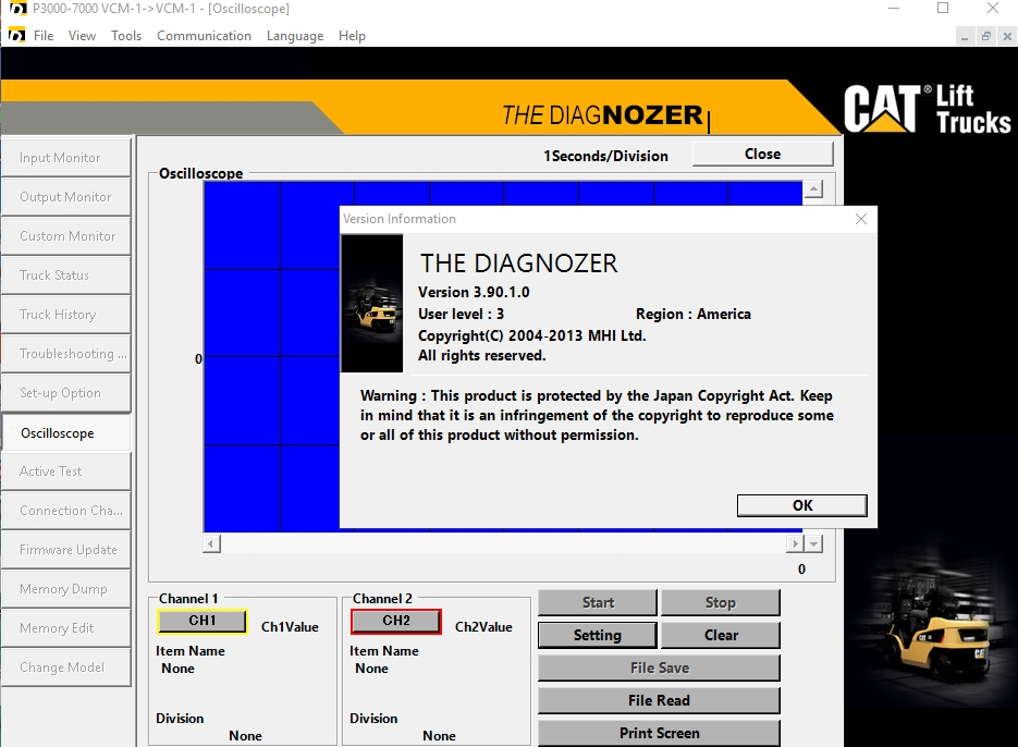 Cat forklift Diagnozer 3.90
