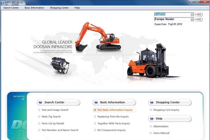 Doosan Infracore GPES 2017 Parts Catalog